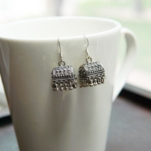 Sterling Plated Boho Box Earrings